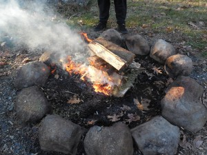 Building A Fire In The Fire-pit