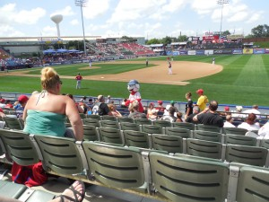 At the Reading Phillies game